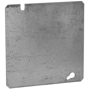 "Appleton 8487 4-11/16"" Square Cover, Flat, Blank"