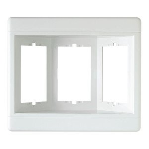 Pass & Seymour TV3W-W Recessed TV Box Frame 3-Gang White