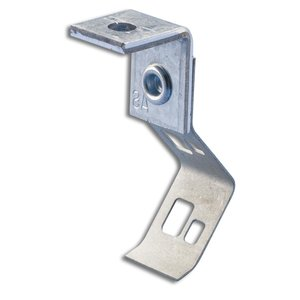 "Erico Caddy 708AB Rod/Wire Hanger with Angle Bracket, Rod: 1/4"", Wire: #8, Steel"