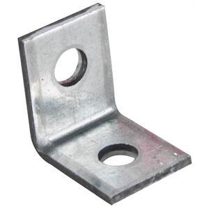 "Erico Caddy AB Angle Bracket, 2-Hole, 1/4"", Steel"