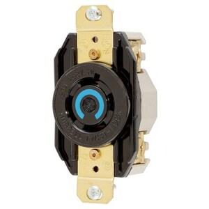 Hubbell-Kellems HBL2420 Locking Receptacle, 20A, 3PH 250V, L15-20R, 3P4W