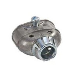 "Bridgeport Fittings 3838ASP AC/Flex Conn, Snap-In, 3/8"", Zinc Die Cast, Duplex"