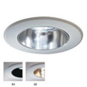 """Lightolier 304BAX Adjustable Trim, 3-3/4"""", Black Specular/White Flange"""