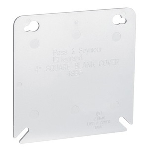 "Pass & Seymour 4SBC Plastic Cover, 4"", Gray"