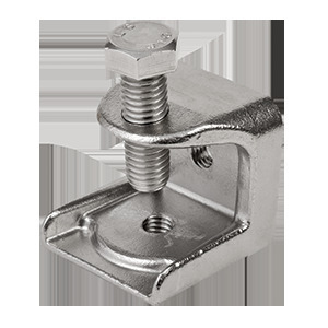 """Calbrite S60300BC00 Beam Clamp, 3/8"""", Rod Size: 1/2"""", Stainless Steel"""