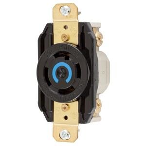 Hubbell-Kellems HBL2720 Locking Receptacle, 30A, 3PH 250V, L15-30R, 3P4W