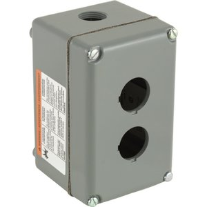 Square D 9001KY2 Enclosure, 30mm, 2-Hole, Aluminum, NEMA 1/3/4/13