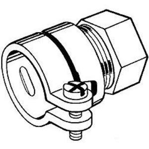 "Hubbell-Raco 1943 EMT Combination Coupling, EMT to Flex, 3/4"", Malleable"