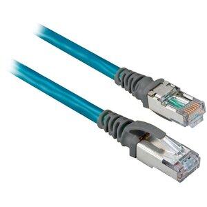 Allen-Bradley 1585J-M8CBJM-0M3 Connection Cable, EtherNet, 8 Conductor, RJ45 Male to Male, Teal