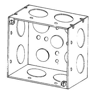 "Appleton 4SD-1 4"" Square Box, Welded, Metallic, 2-1/8"" Deep"