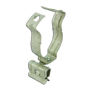 """Erico Caddy 20M24SM Flange-Mount Conduit Clip, Type: Snap, 1-1/4"""" Conduit, Steel"""