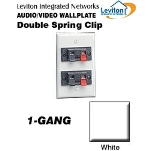 Leviton 40952-2PW Wallplate, White