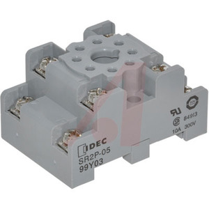 IDEC SR2P-05 Mounting Base Socket, 8 Pin, Screw Terminal, DIN Rail Mount