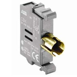 ABB MLB-1 Pilot Device, 22mm Lamp Block, Front Mount, Non-Metallic240V AC/DC