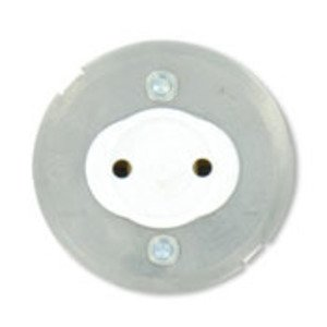 Leviton 13519 Fluorescent Lampholder, Medium Base, Snap-In, Stationary, White