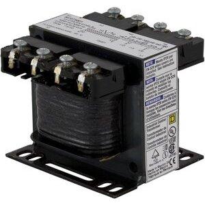 Square D 9070T50D14 Control Transformer, 50VA, 208VAC x 24VAC, Type T, Open