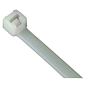 "Catamount L-11-50-9-D Cable Tie, Nylon, Standard, White, 11.1"" Long, 50lb Rating, 500/PK"