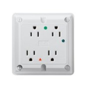 Leviton 8480-IGW 4-in-1 Receptacle, White