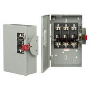 GE TC35322 Safety Switch, Double Throw, Non-Fused, 60A, 240VAC, NEMA 1