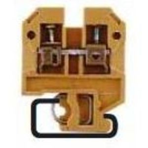 Weidmuller 0279660000 Terminal Block, Feed Through, 2.5mm, 25A, 600V AC/DC, Beige/Yellow