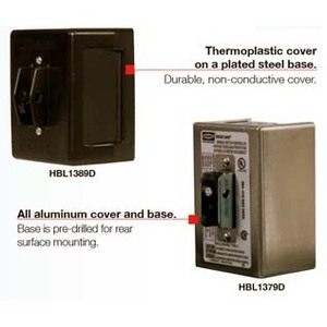 Hubbell-Wiring Kellems HBL1389D Manual Motor Control, Toggle Style, 30A, 600V, 3P, NEMA 1