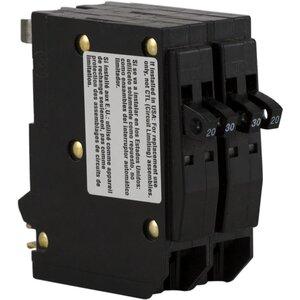 Square D QO20303020 Breaker, Plug In, Quad, 2-1P, 20A, 1-2P, 30A, 120/240VAC, 10kAIC