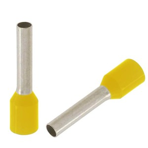 "Panduit FSD73-8-D Ferrule, Insulated, 24 AWG, Pin Length: 0.31"", Yellow, Copper"