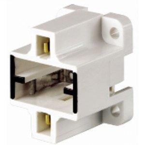 Leviton 26720-400 Compact Fluorescent Lampholder, Bottom Screw-Down, GX23, GX23-2