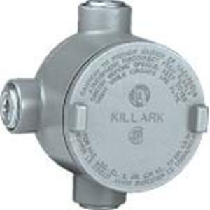 "Hubbell-Killark GRR-2 Universal Conduit Outlet Box, Type: GRR, (4) 3/4"" Hubs"