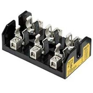 Eaton/Bussmann Series T60060-3SR Class T Fuse Block, 3-Pole, 31-60A, 600V, Screw Terminal w/Clip