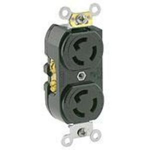 Leviton 4700 Duplex Receptacle, 15A, 125V, Black, Industrial