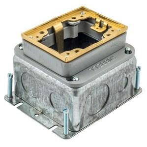Hubbell-Kellems B2427 1-g Rect Steel Fb, Deep, Full Adj,brs