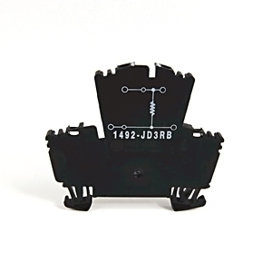 Allen-Bradley 1492-JD3RB102 Terminal Block, 2 Circuit, Selectable 1k Ohm Resistance, 2.5mm