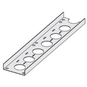 """Cooper B-Line ACC-04-120 Ventilated Cable Channel, Aluminum, 4"""" Wide, 10' Long"""