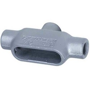 "Appleton TB58 Conduit Body, Type: TB, Size: 1-1/2"", Form 8, Material: Grayloy Iron"
