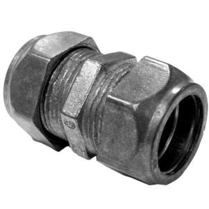 "Appleton TC-611 EMT Compression Coupling, 1/2"", Zinc Die Cast, Concrete Tight"
