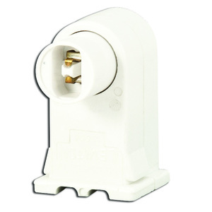 Leviton 13556-W Fluorescent Lampholder, Vertical High-Output, White