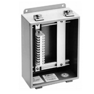 """Hoffman A10JBNS Terminal Block Strip For Junction Box, Length: 10"""", 12 Terminals, Wire Range: 22 - 10 AWG,"""