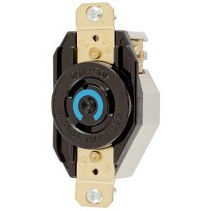 Hubbell-Kellems HBL2320 Twist-Lock, Single Flush Receptacle, 20A, Black