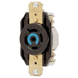 Hubbell-Kellems HBL2510 Twist-Lock Single Receptacle, 20A, 3PH Wye, 120/280V, L21-20R