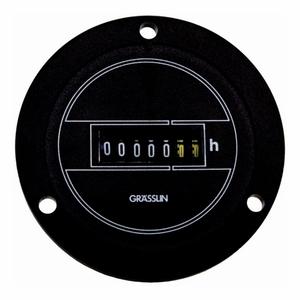 Intermatic FWZ72-120U AC Hour Meter, Flush-Panel Mounting, Black