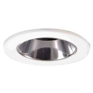 "Halo 3007WHC 3"" Trim Lensed Shower Light, White/Clear"