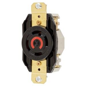 Hubbell-Kellems HBL2710 Twist-Lock, Single Flush Receptacle, 30A