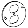 "Appleton 8420LR 4"" Octagon Box Cover, Type: (1) Duplex Receptacle, Drawn, Metallic"