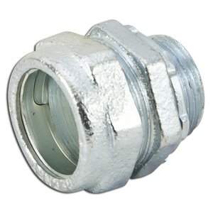 "Appleton NTC-250 Rigid Compression Connector, 2-1/2"", Threadless, Malleable"