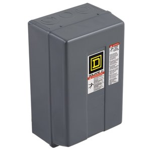 Square D 8903LG1000V02 Contactor, Lighting, 30A, 600VAC, 10P, NO, 120VAC Coil, NEMA 1