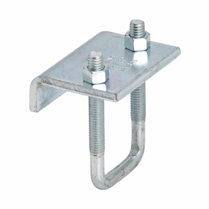 "Cooper B-Line B441-22HDG Beam Clamp, 3/4"" Flange, Hex Nut and U-Bolt Included, Steel"