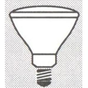 SYLVANIA 65BR/CVP-130V Incandescent Lamp, BR40, 65W, 130V, WFL60