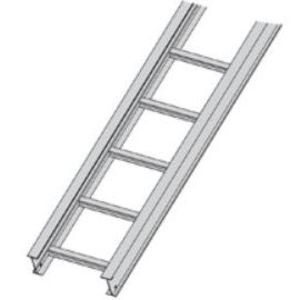 "Cooper B-Line 24A09-12-144 Cable Tray, Ladder Type, Aluminum, 9"" Rung Spacing, 12"" Wide, 12' Long"