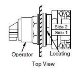 Square D 9001SKS11B Selector Switch, 2-Position, Black, Maintained, Operator Only